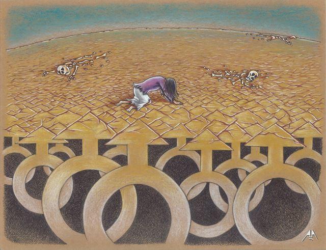 kadına yönelik şiddet 2. karikatür