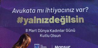 Başkent'te tüm bilboardlar kadınlara destek için
