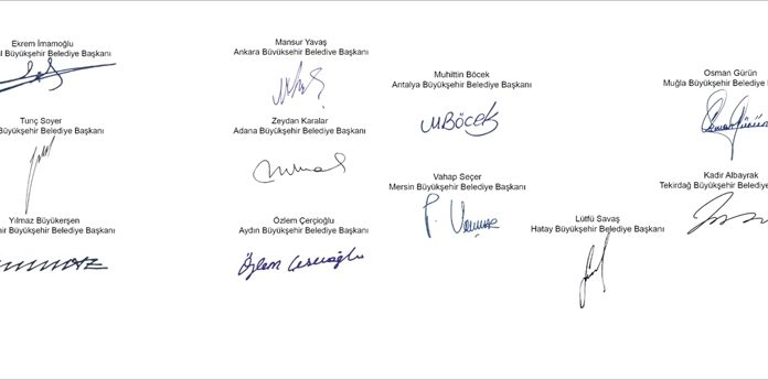 11 Belediye başkanından ortak açıklama ozelkalem.com .tr