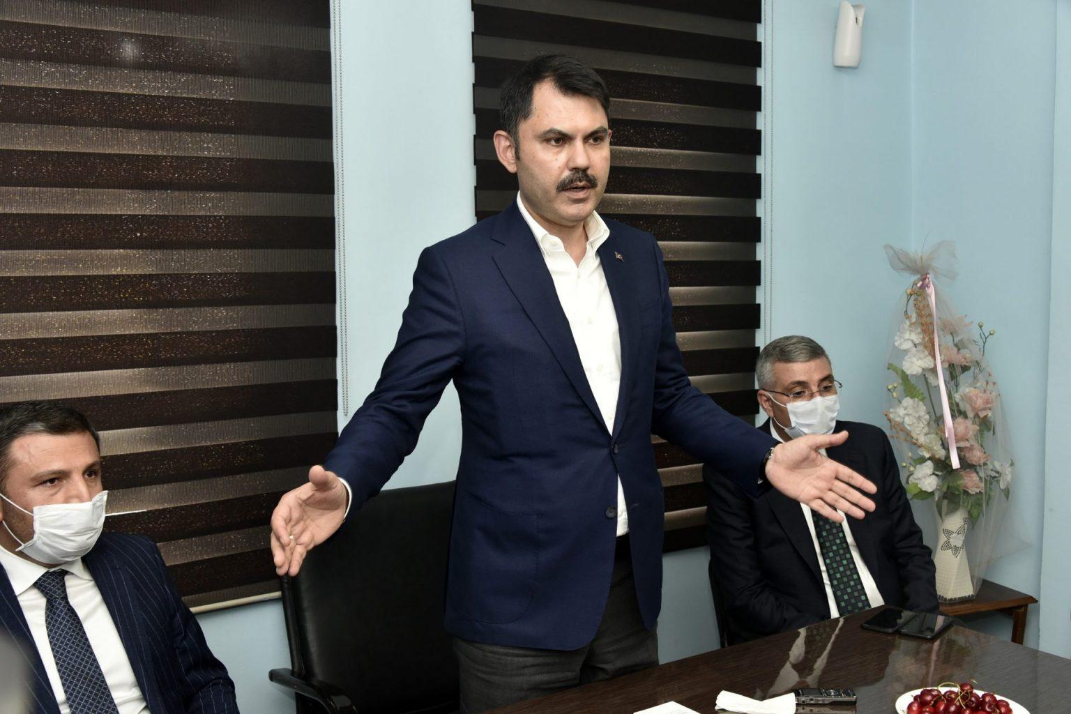 evre ve Şehircilik Bakanı Murat Kurum Gümüşhaneye çok sayıda projeleri hayata geçirecek müjdeler verdi 3
