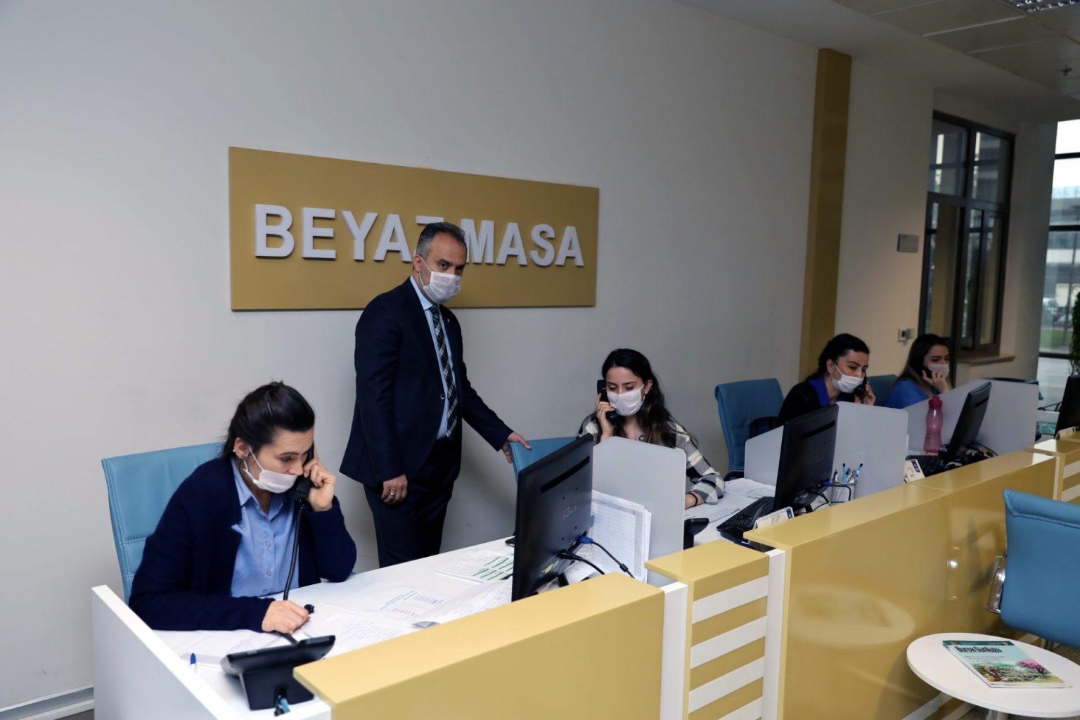 Büyükşehir Belediye Başkanı Alinur Aktaş ALO 153 personeliyle biraraya geldi
