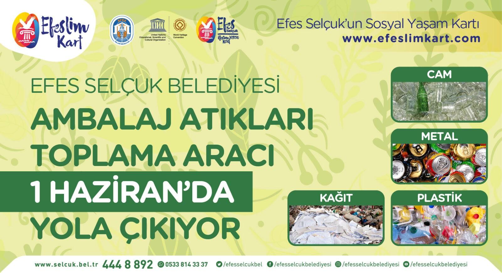 Efeslim Kart ile çevre daha çok korunacak ozelkalem.com.tr