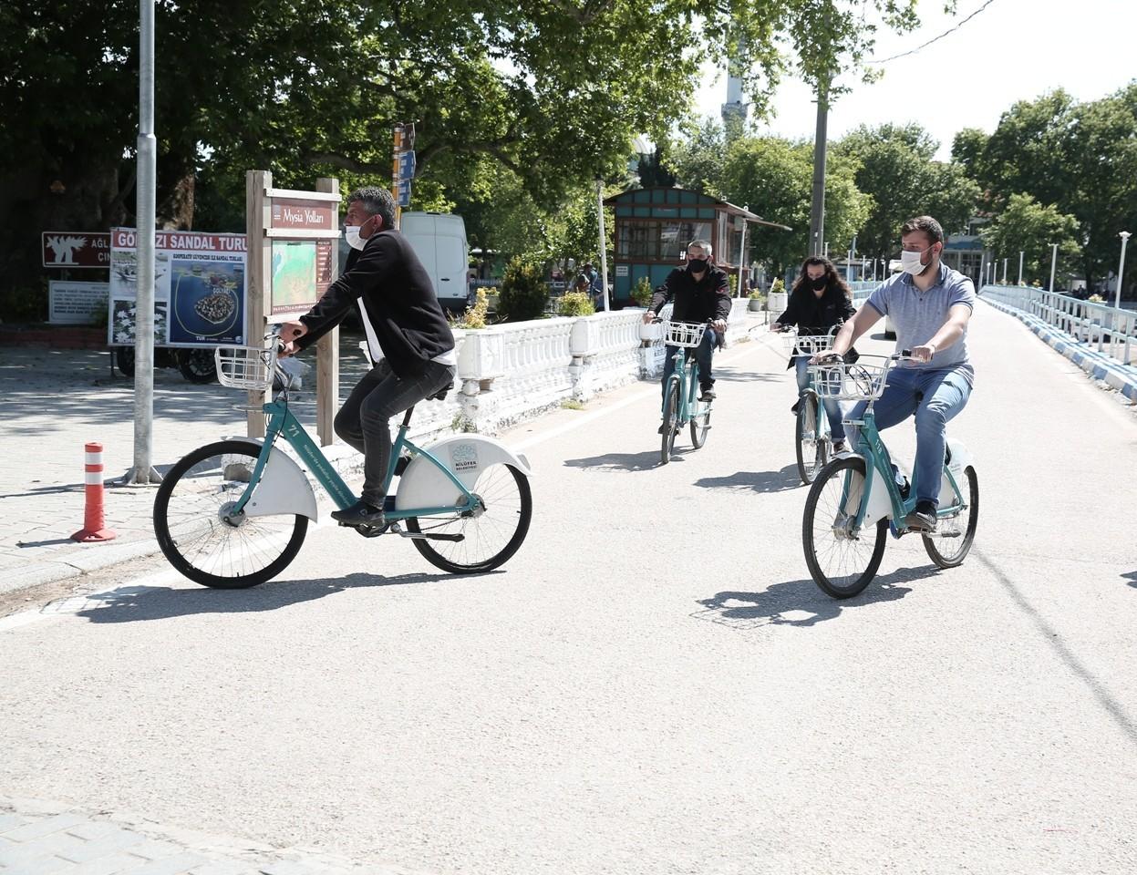 Gölyazı'da bisikletli ulaşım dönemi 2