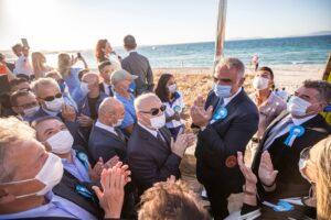 Ilıca Plajı Mavi Bayrak ile onurlandı