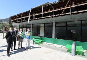 Atatürk Spor Salonu'nun yıkımına başlandı