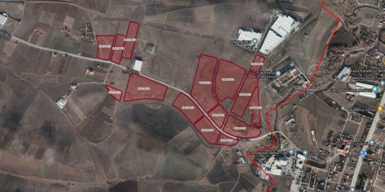 Ankara Büyükşehir Belediyesi, Çubuk ilçesinde yer alan toplam 300 bin metrekarelik 15 arsasını (sanayi alanı) ihale yoluyla satacak.