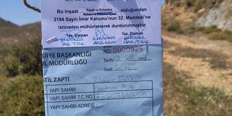 Bodrum Belediyesi, rüzgar türbinlerini mühürledi