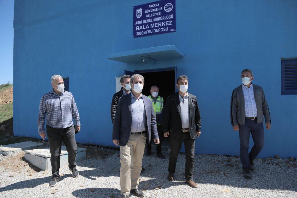 Bala'nın 40 yıldır devam eden içme suyu sorunu çözüme kavuşuyor. ASKİ, 3 bin metreküp kapasiteli yeni su deposunu devreye sokuyor.