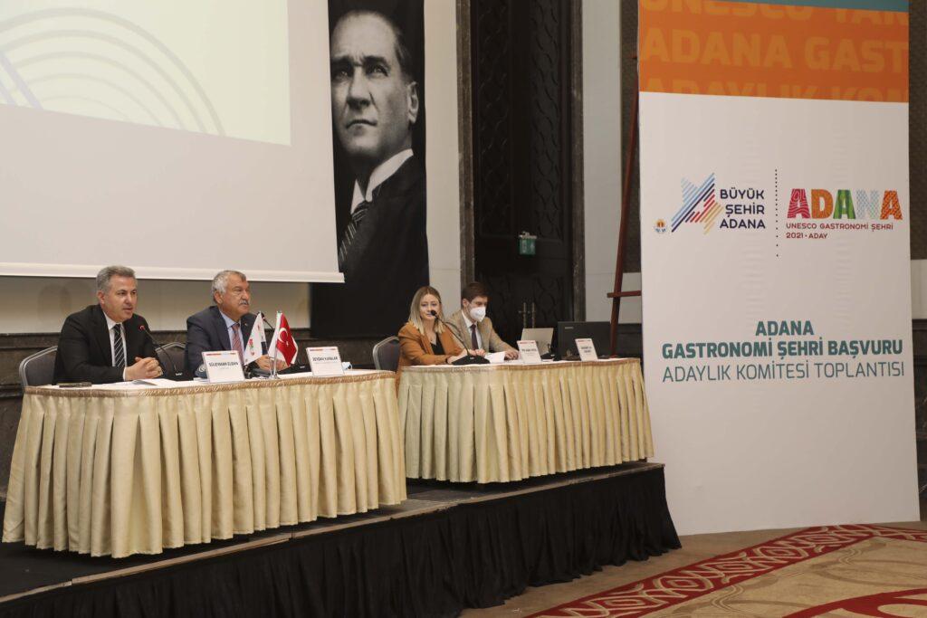 Adana'ya UNESCO tarafından Gastronomi Şehri unvanının verilmesi için başlatılan çalışmalar kapsamında, Komite Toplantısı gerçekleştirildi.