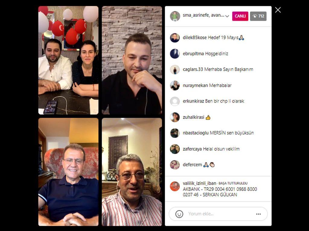 Mersin Büyükşehir Başkanı Seçer, Türkiye'nin en küçük SMA hastası Asrın Efe Gülkan'a destek için gerçekleştirilen Instagram canlı yayınına katıldı.